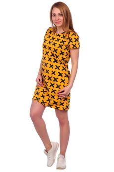 Модное горчичное платье ElenaTex