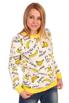 Толстовка с бананами ElenaTex